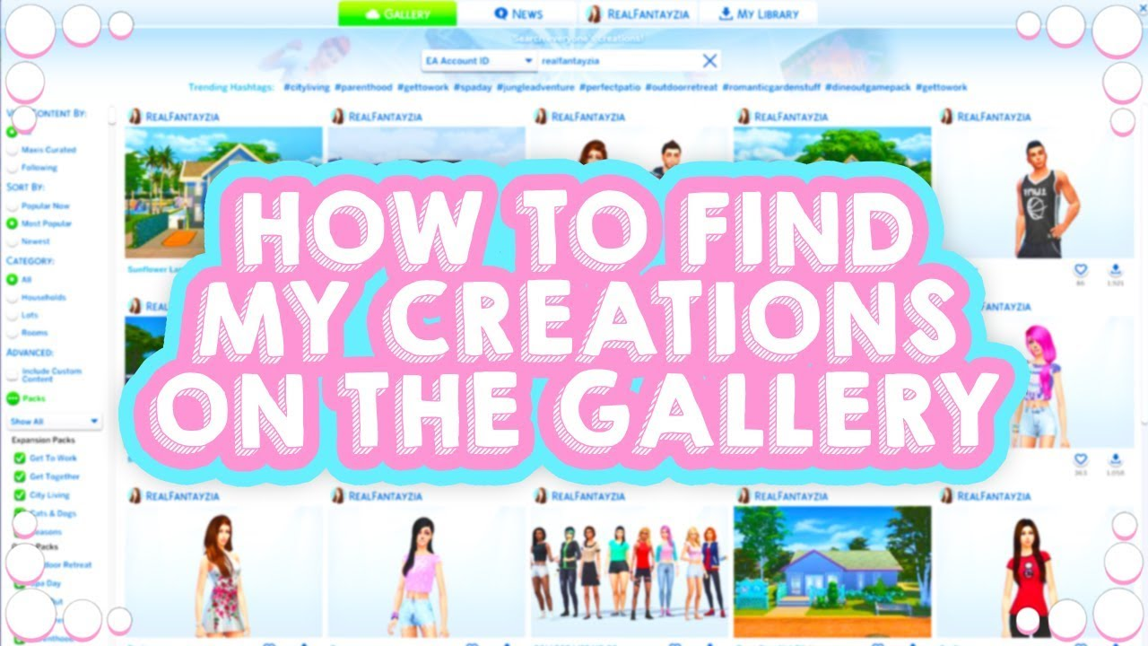 HOW TO FIND MY CREATIONS ON THE GALLERY!💖 // THE SIMS 4