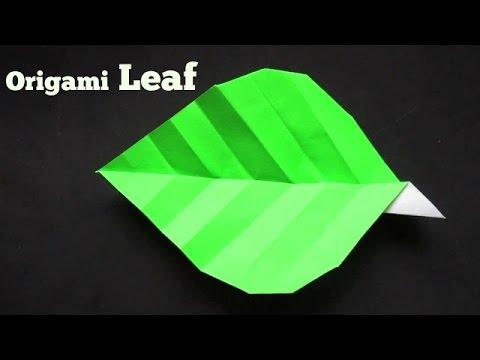 Origami leaf paper(leaves) diy design craft making tutorial easy ... | 360x480