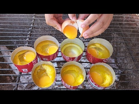 Strange Egg Cooking  Amazing Young Girl Cooking Egg inside CocaCola Can