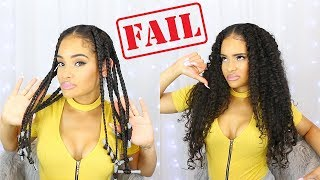 Trying A Braid Out On My TRANSITIONING HAIR | FAIL!