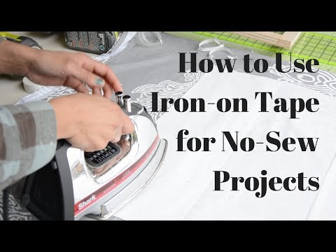 How to Use Iron-On Tape for No Sew Projects: Heat n Bond - Thrift Diving