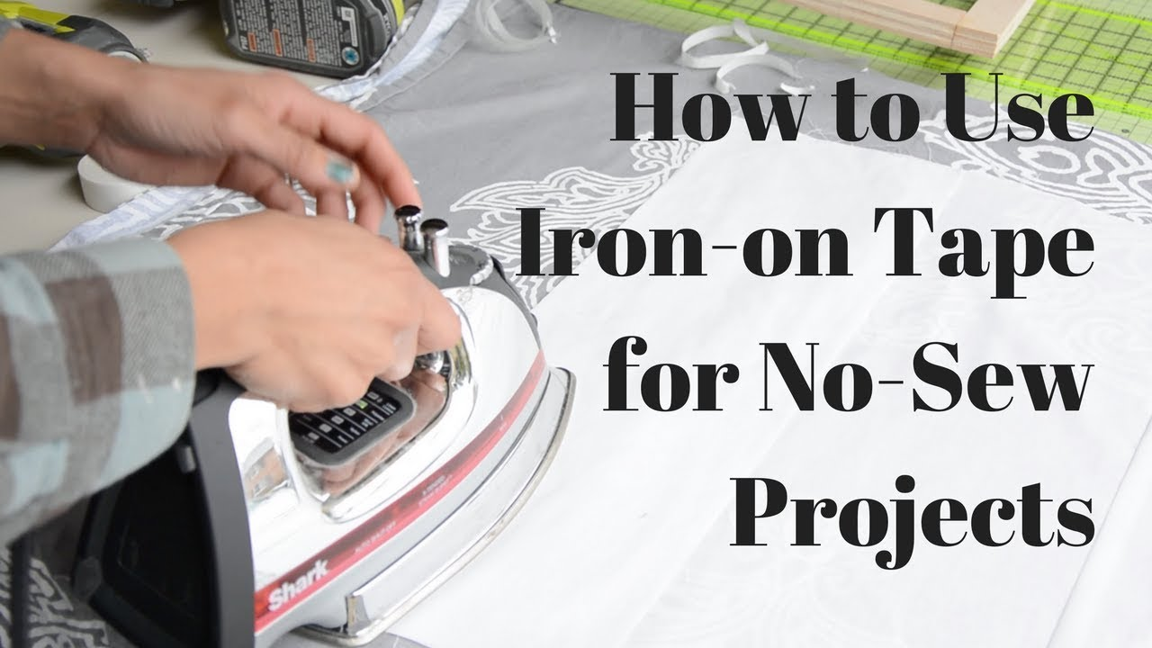 How To Use Iron On Tape For No Sew Projects Heat N Bond Thrift