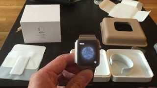 unboxing apple watch 42mm stainless steel case with link bracelet