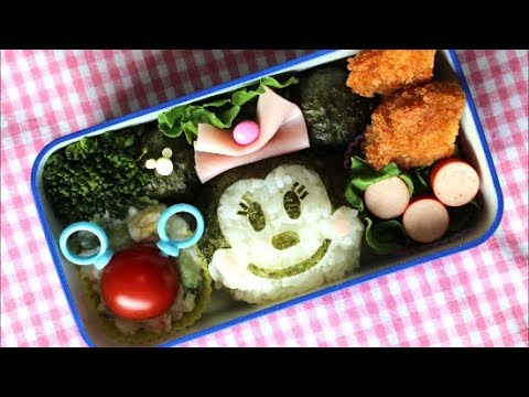 disney minnie mouse bento lunch box kyaraben youtube. Black Bedroom Furniture Sets. Home Design Ideas