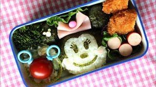 Disney Minnie Mouse Bento Lunch Box (Kyaraben) ディズニー ミニーマウス キャラ弁の作り方
