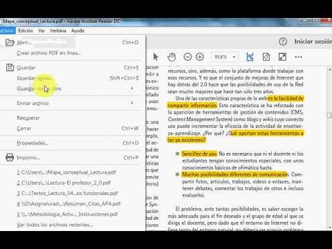 Textos Resaltar texto de un documento PDF con Adobe Reader