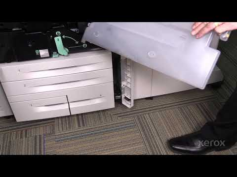 Xerox® Color 550 560 570® Replacing the Waste Toner Bottle