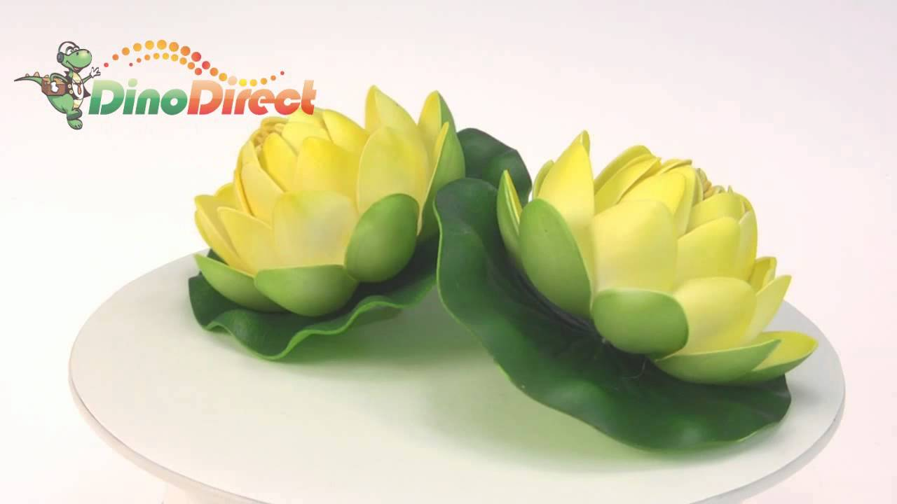 Artificial Craft Water Lily Lotus Flowers 2 Pcs From Dinodirect