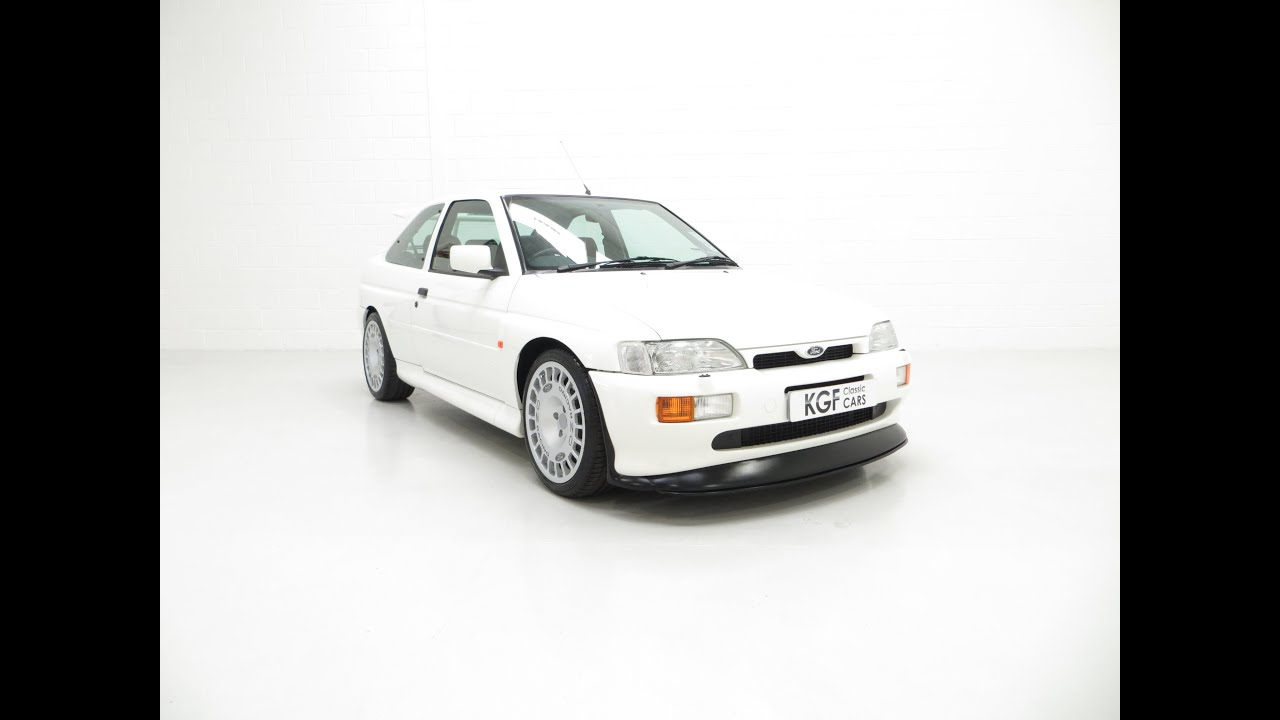 A Desirable Big Turbo Ford Escort RS Cosworth Luxury with 16,951 Miles. £51,995