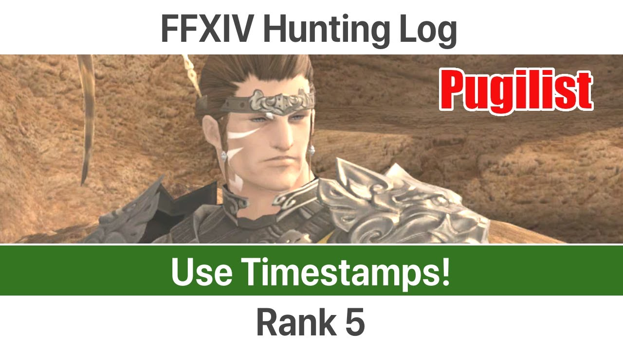 Rogue hunting log rank 1 - Ffxiv Leveling Monk Level 41 50 Hunting Log Rank 5 A Realm Reborn