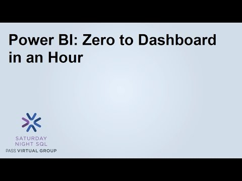 Power BI  Zero to Dashboard in an Hour