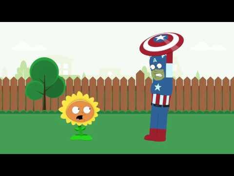 Peter's PLANTS vs ZOMBIES - Episode 2 - Poor Captain America (Family Guy & PvZ animated Parody)