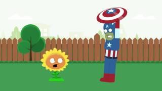 peter s plants vs zombies episode 2 poor captain america family guy pvz animated parody
