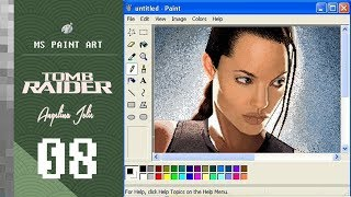 Angelina Jolie | Tomb Raider | MS Paint Drawing