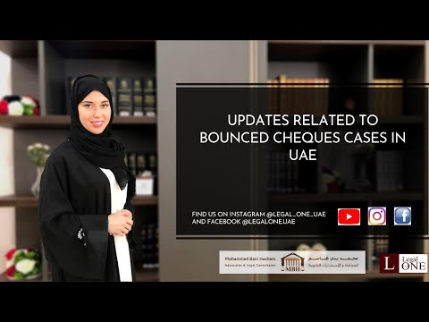 Updates related to bounced cheque cases in UAE