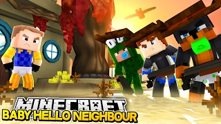 Minecraft BABY HELLO NEIGHBOUR - THE NEIGHBOUR SHOOTS LITTLE LIZARD - Donut the Dog