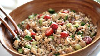 Chopped Chicken & Farro Salad || Kin Eats
