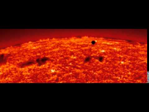 SOHO-EIT He II movie showing the transit of Mercury, which occurred in 1999.