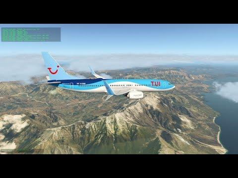 X-Plane 11 | Munich - Korfu turn | Zibo B737 RG Mod - YouTube