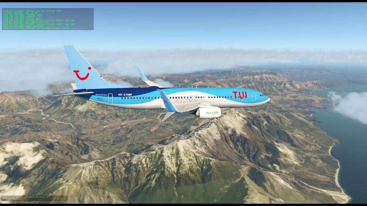 X-Plane 11 | Munich - Korfu turn | Zibo B737 RG Mod