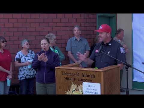 Mendocino Lake Fire Complex Press Conference in Ukiah 10/11/2017