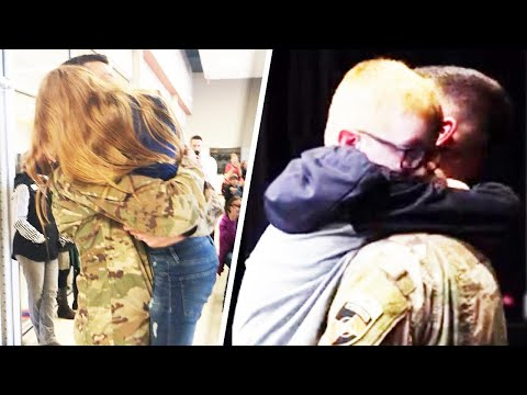 The Woody Show - Kids Get Surprise Homecoming From Military Dad at School