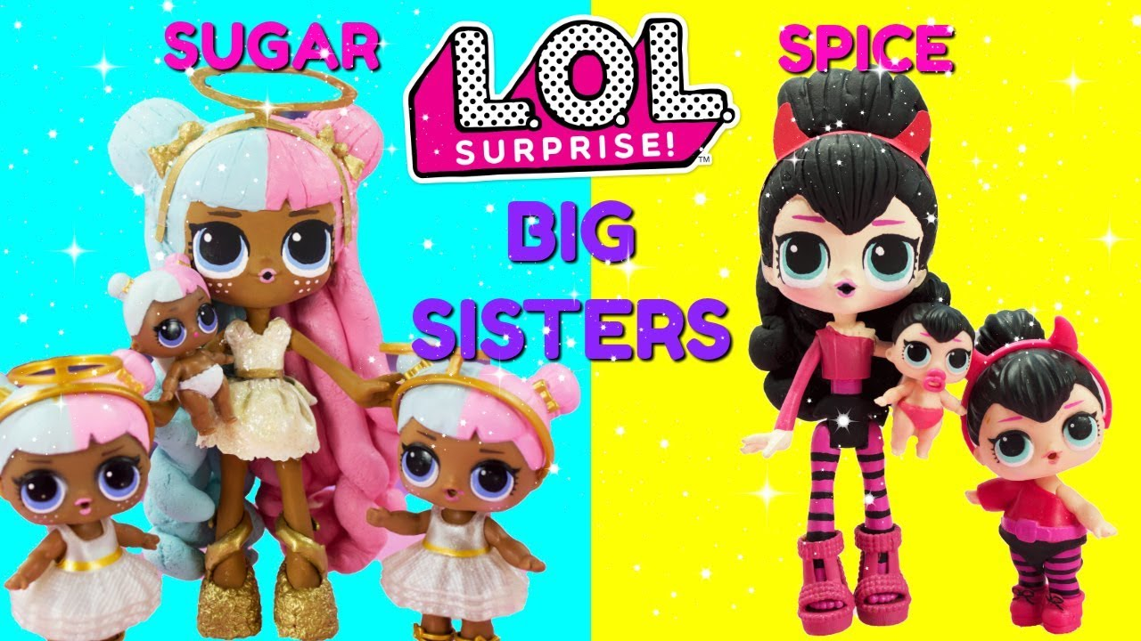 Lol Surprise Sugar Amp Spice Big Sisters Compilation Diy