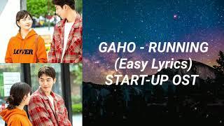 Gaho - Running (Easy Lyrics) Start-Up OST Part 5