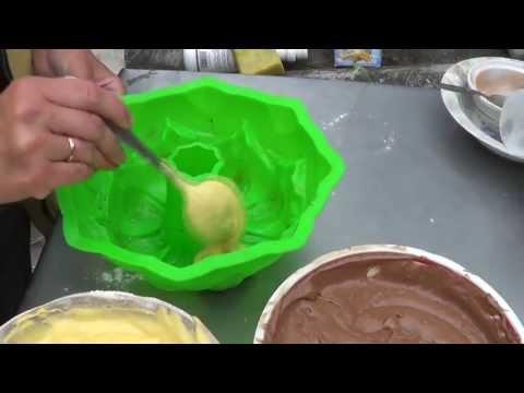 Торт Зебра или мраморный кекс. Видеорецепт