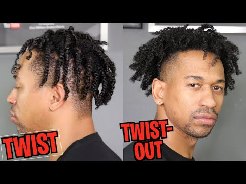NATURAL HAIR TWO-STRAND TWIST & TWIST-OUT (My First Time)