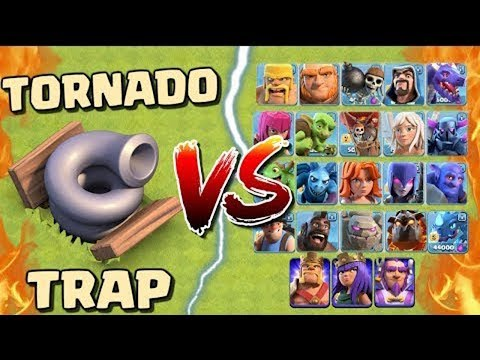 Tornado Trap vs All Troops - COC - Clash of Clans | OCTOBER 2018 UPDATE | Quitable Gamer (Hindi)