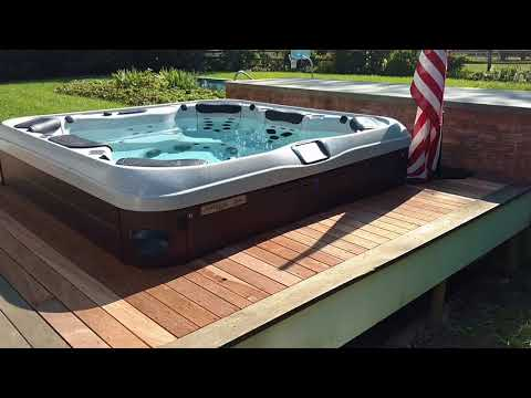 How To Build A Hot Tub Into Deck By Best Hot Tubs Long Island Bullfrog Spas
