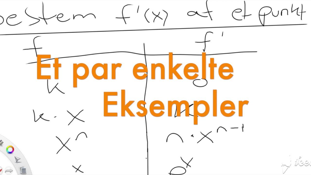 Regneregler for differentiation del 3