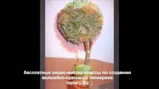 нарядный и торжественный топиарий из органзы своими руками