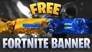 Youtube free banner psd | Free Fortnite Banner | [youtube making free banners] #2