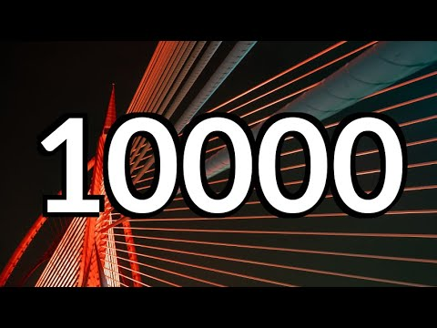 10000 Seconds Countdown Timer no Music with Alarm ⏰🔔