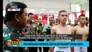 Momen Panglima TNI Ngobrol Bahasa Perancis dengan Enzo Zenz, Bule yang Lolos Akmil