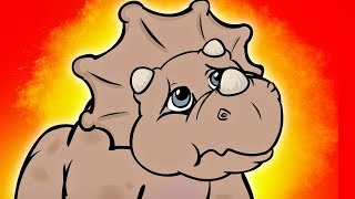 Terri, la Triceratops nace de su huevo y comienza a explorar el mun...