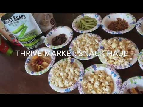 Healthy Snack Taste Test: Thrive Market Haul