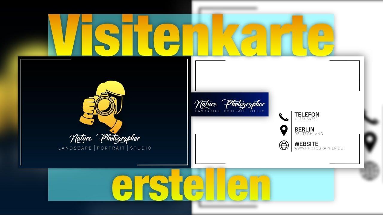 Visitenkarte Kostenlos Erstellen Mit Gimp Affinity Photo Designen