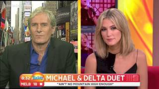 Delta Goodrem talks with Michael Bolton on The Today Show - May 29, 2013