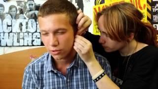 Прокол уха в домашних условиях