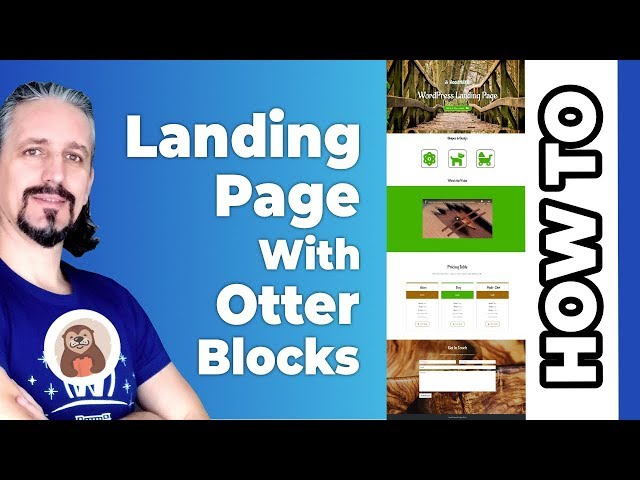Build A Landing Page With WordPress Using The Block Editor [Gutenberg]