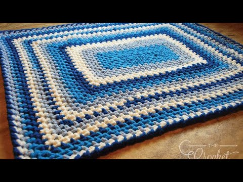 How To Crochet A Baby Blanket Baby Stripes Youtube