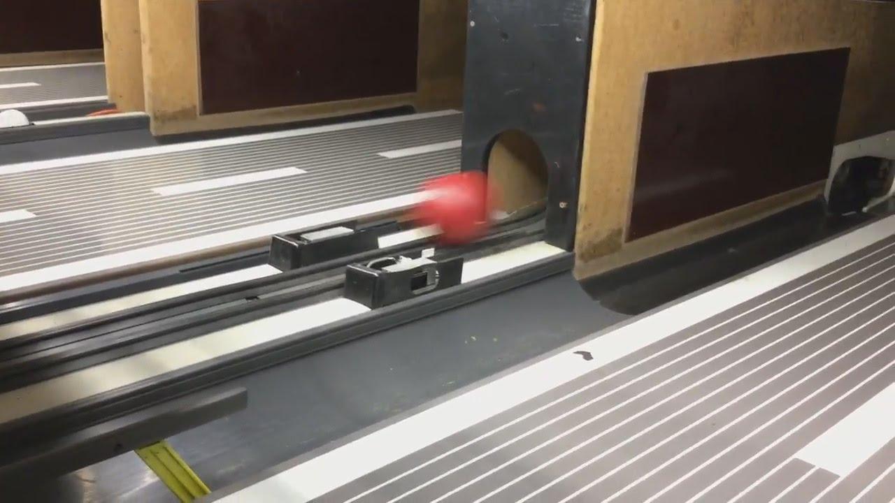 How A Mini Bowling Ball Return Works!! (Highway 66 Bowling)