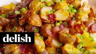 Loaded Slow-Cooker Potatoes | Delish