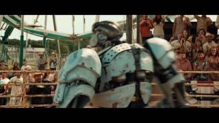 Робот Эмбуш против быка по кличке Чёрный Гром  Ambush versus Bull  Живая Сталь