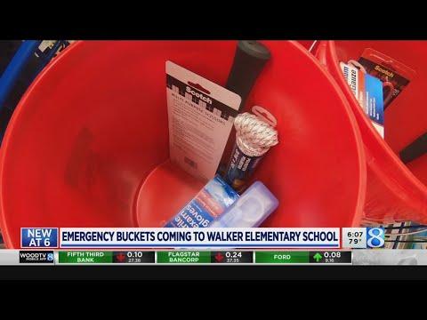 Walker school gets emergency buckets 'to be prepared'
