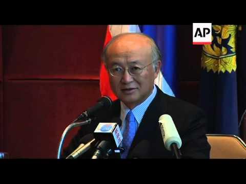 IAEA chief Yukiya Amano and Thai FM hold news conference