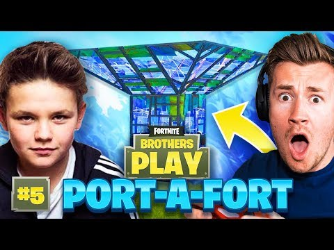 PORT-A-FORT FIGHT! | BROTHERS PLAY FORTNITE #5